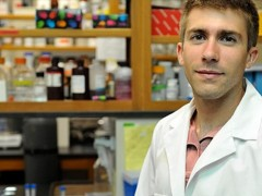 NDSU undergraduate, Nathan Fix, participates in research to combat pancreatic cancer
